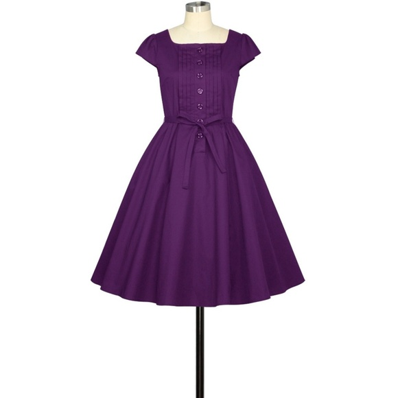 Plus Size Pin Up Clothing Full Circle Button Dress NWT